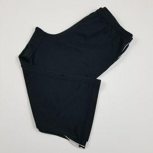 Black Cropped Athletic Pants